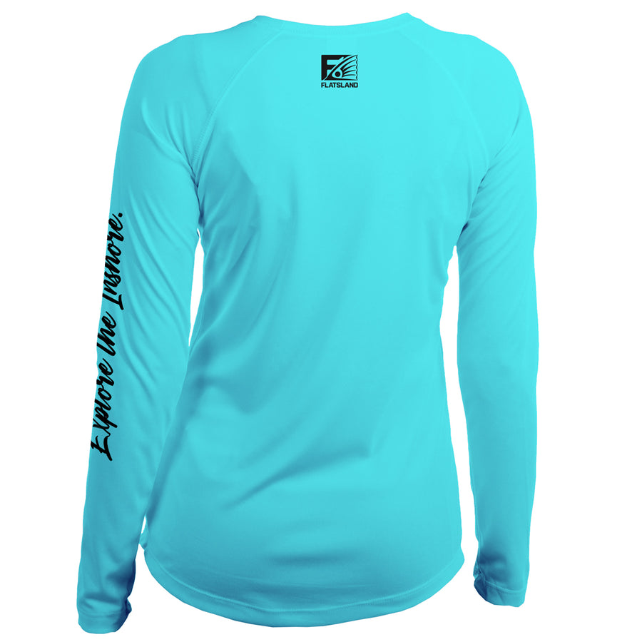 Flatsland Clothing Company LLC - Boxed Logo Womens Performance Shirt - Performance Shirt