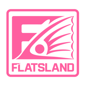 "Flatsland Clothing Company LLC - Fin Squared Vinyl Decals - 7"" - Stickers"