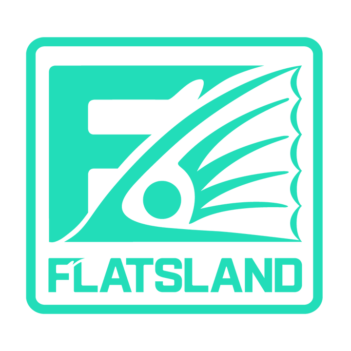 "Flatsland Clothing Company LLC - Fin Squared Vinyl Decals - 4"" - Stickers"