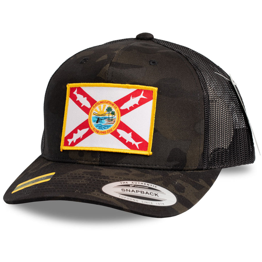 Flatsland Clothing Company LLC - Home Sweet Flats V.2 Trucker Hat - MULTICAM® Black Camo - Hats