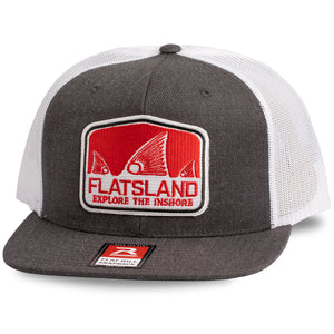 Flatsland Clothing Company LLC - Red Tails Rising V.2 Flat Bill Trucker Hat - Hats