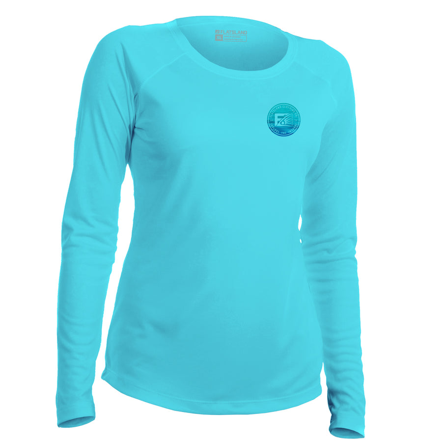 Flatsland Clothing Company LLC - Smooth Waters Womens Performance Shirt - Performance Shirt