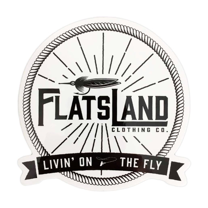 Flatsland Clothing Company LLC - Flats Livin' Sticker - Stickers