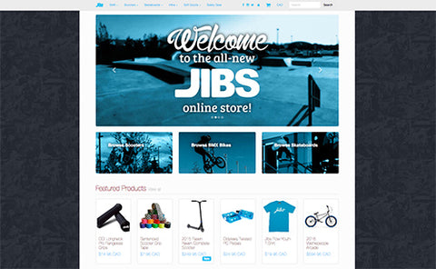 Jibs Action Sports New Online Store