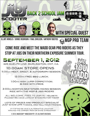 Madd Gear and Jibs Back To School Jam