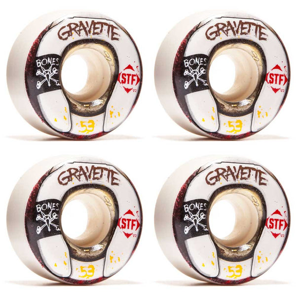 Bones STF Gravette Wasted Life V2 Wheels 53mm - Jibs Action Sports