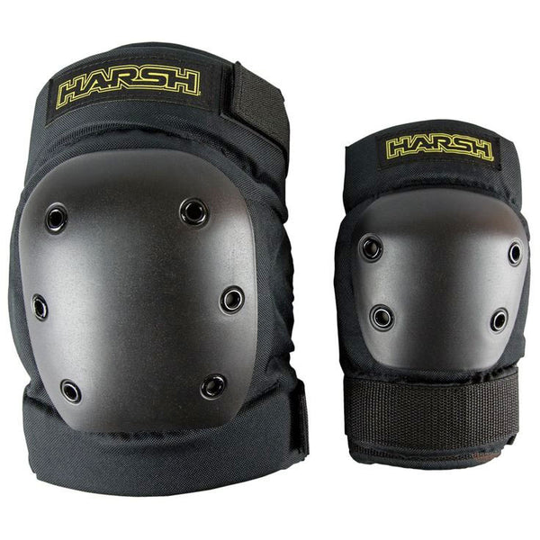 Harsh Hard Shell Knee & Elbow Pad Set - Jibs Action Sports