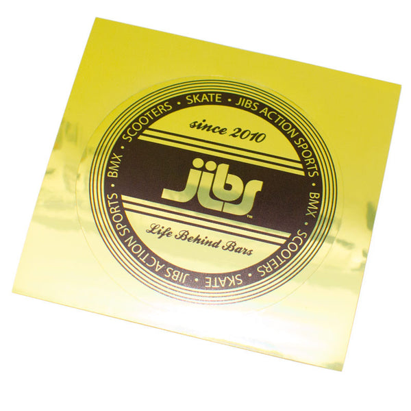 Jibs Gold Foil Sticker - Jibs Action Sports
