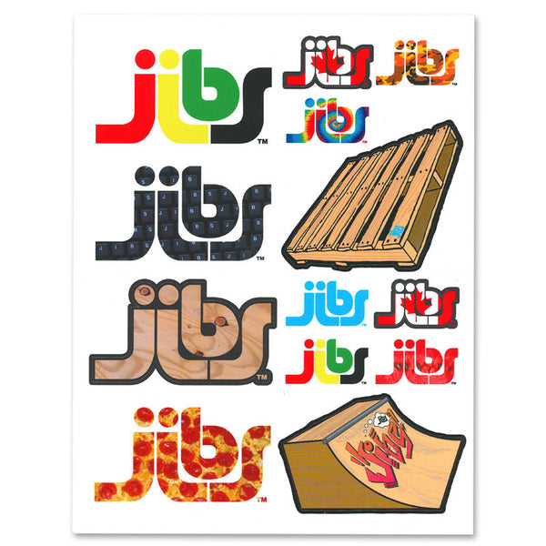 Jibs Graphic Vinyl Sticker Pack V2 - Jibs Action Sports