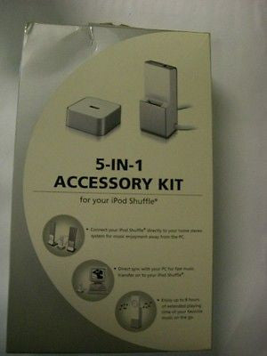 NEW 5-IN-1 Accessory Kit For Apple iPod Shuffle 1st Generation