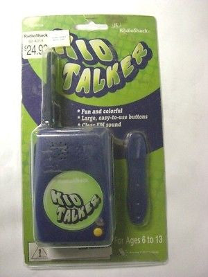 RadioShack Kids Walkie Talkie Cat# 60-4019