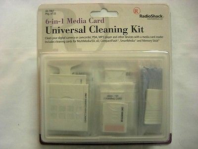 RadioShack 6 in 1 Media Card Universal Cleaning Kit Cat# 440-1907