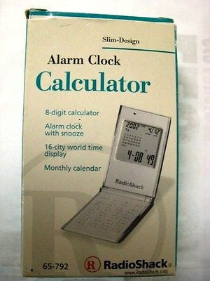 Radioshack Calculator with Alarm Clock Cat# 650-0792