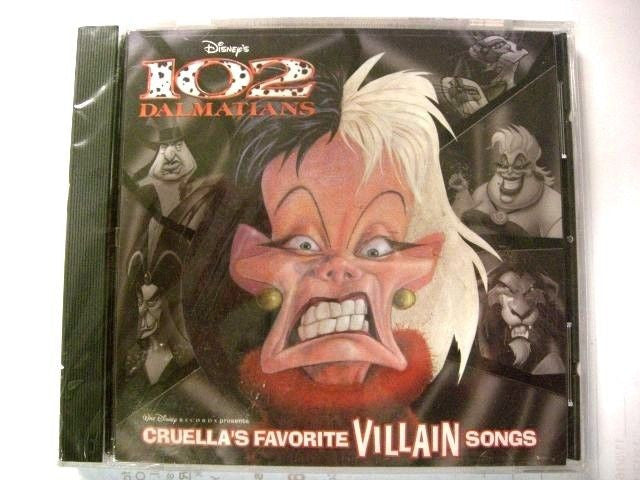 Cruella's Favorite Villain Songs by Disney (CD, Mar-2001, Disney)