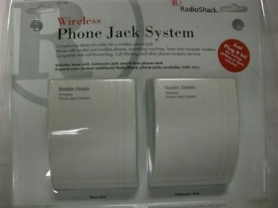 RadioShack Wireless Phone Jack System Cat# 430-0160