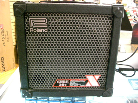 Used Roland Cube 30X 1x10 30W Cube Guitar Combo Amp