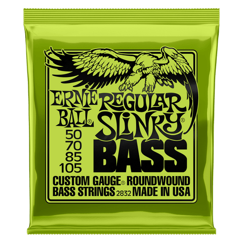 Ernie Ball 2832 REGULAR SLINKY NICKEL WOUND ELECTRIC BASS STRINGS - 50-105 GAUGE