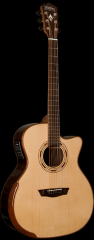 Washburn WCG25SCE Comfort Series Grand Auditorium Cutaway 6-String Acoustic-Electric - Natural