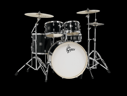 GRETSCH ENERGY 5-PIECE KIT  BLACK WITH ZILDJIAN CYMBALS