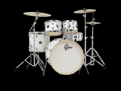 GRETSCH ENERGY 5-PIECE KIT  WHITE WITH ZILDJIAN CYMBALS