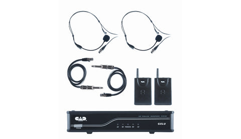 CAD Audio GXLUBBL UHF Wireless Dual Bodypack Microphone System L Frequency Band
