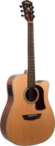 Washburn HD100SWCEK-D Heritage Series Acoustic/Electric Guitar W/Hard Shell Case