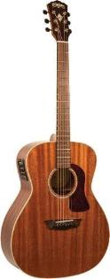 Washburn HG120SWEK Heritage Series Grand Auditorium Acoustic-Electric Guitar Natural with Hard Shell Case
