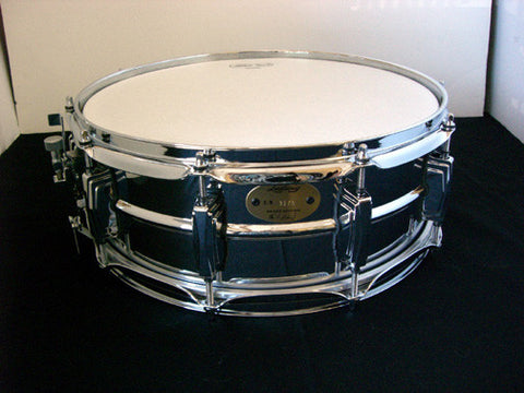 LB402B Ludwig 6.5x14 Chrome Over Brass Snare