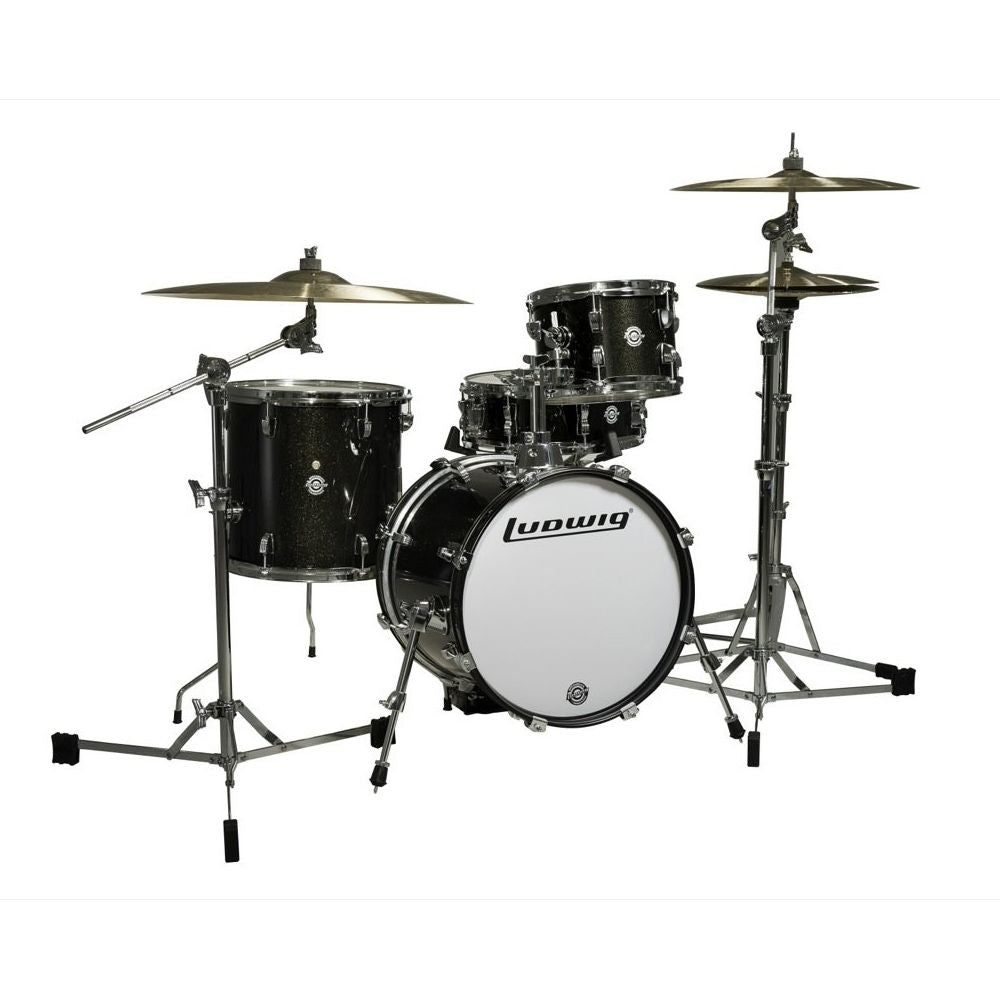 Ludwig Breakbeats By Questlove 4 Piece Shell Pack In Black