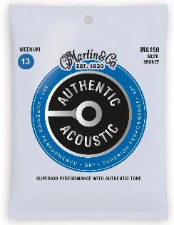 Martin MA150 SP 80/20 Bronze Authentic Acoustic Guitar Strings Medium 13-56