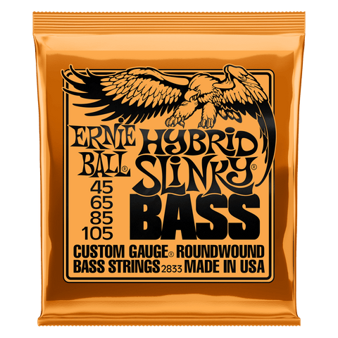 Ernie Ball 2833 HYBRID SLINKY NICKEL WOUND ELECTRIC BASS STRINGS - 45-105 GAUGE