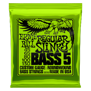 REGULAR SLINKY 5-STRING NICKEL WOUND ELECTRIC BASS STRINGS - 45-130 GAUGE