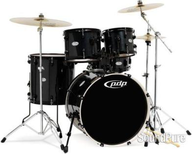 PDP Mainstage 5-piece Drum Set with Hardware & Paiste Cymbals - Black
