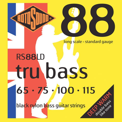 Rotosound RS88LD Long Scale 88 Black Nylon Tru Bass Strings Standard 65-115
