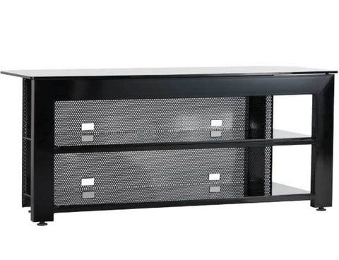 Widescreen TV/AV Stand Rigid strength and contemporary design in an affordable package in Black