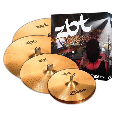 "Zildjian ZBT 5 Box Set - 14"" Hi-Hats, 16"" Crash, 20"" Ride w/ Free 18"" Crash"