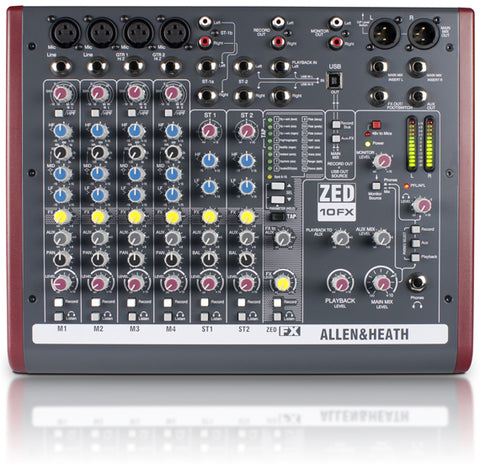 ZED-10FX Multipurpose Mixer with FX for Live Sound and Recording