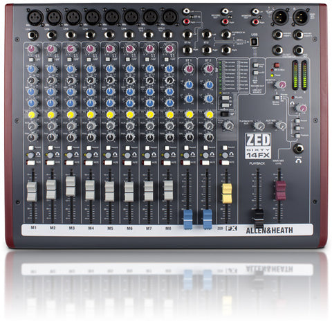 ZED60-14FX Multipurpose Mixer with FX for Live Sound and Recording