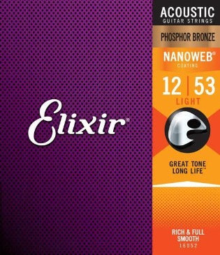 Elixir Strings 16052 Acoustic Phosphor Bronze With Nano Coating