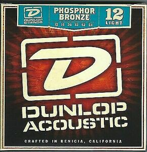 DUNLOP ACOUSTIC PHOS BRONZE GUITAR STRINGS 12-54