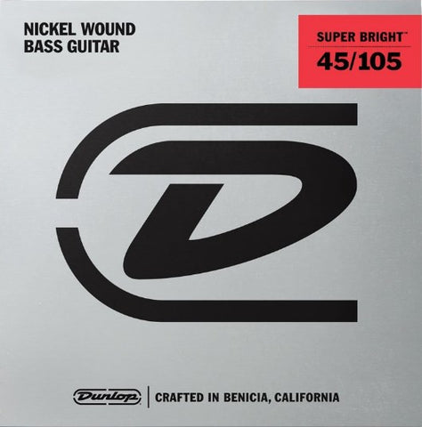 Dunlop SUPER BRIGHT NICKEL WOUND BASS STRINGS 45-105