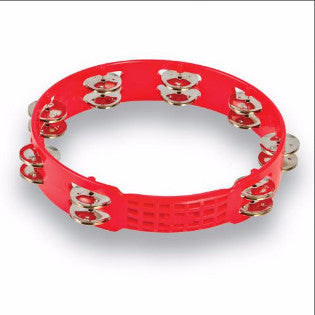 "LP Aspire® 10"" Plastic Tambourine, Red"