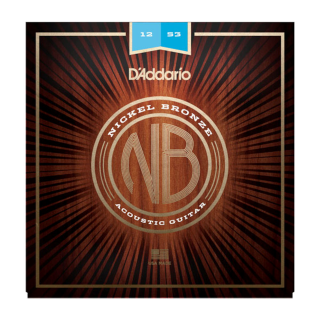 NB1253 Nickel Bronze Acoustic Guitar Strings, Light, 12-53