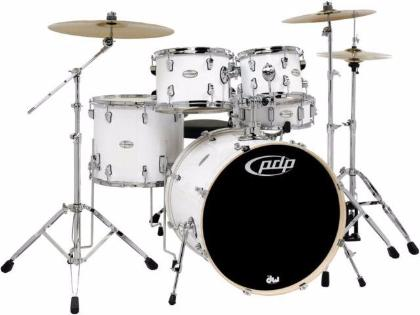 PDP Mainstage 5-piece Drum Set with Hardware & Paiste Cymbals - White