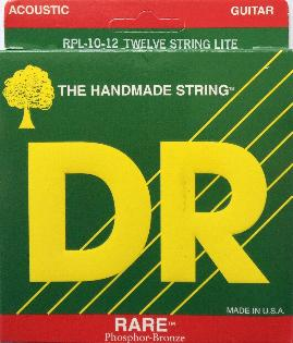 DR Strings RPL-10/12 RARE Phos-Bronze Acoustic 12-String Ex-Lt 10-48