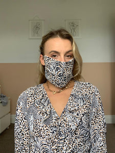 Animal Print and Country Green Face Mask
