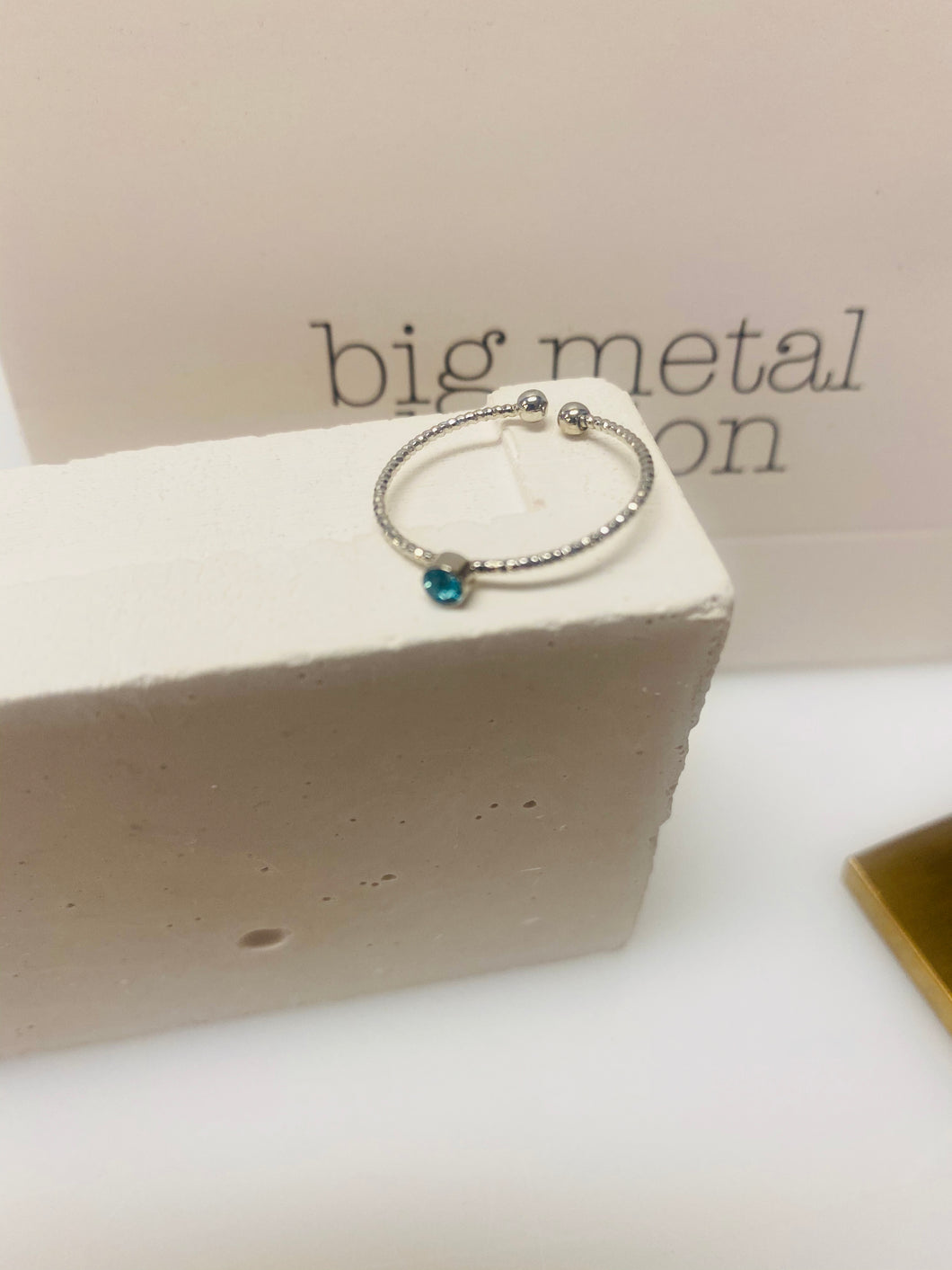 Silver Ring With An Aqua Stone