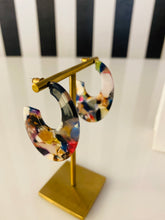 Load image into Gallery viewer, Resin Multi-Print Hoop Earrings