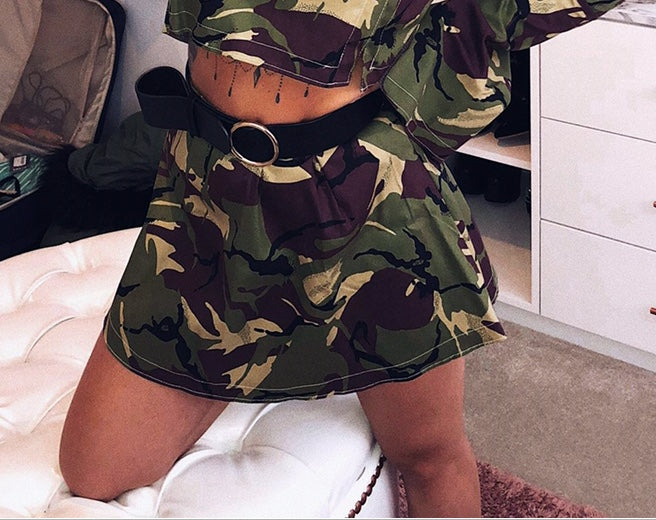 Army Style Short Skirt