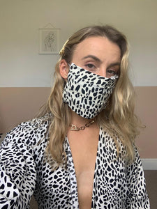 Animal Print and Multi Blue Print Face Mask